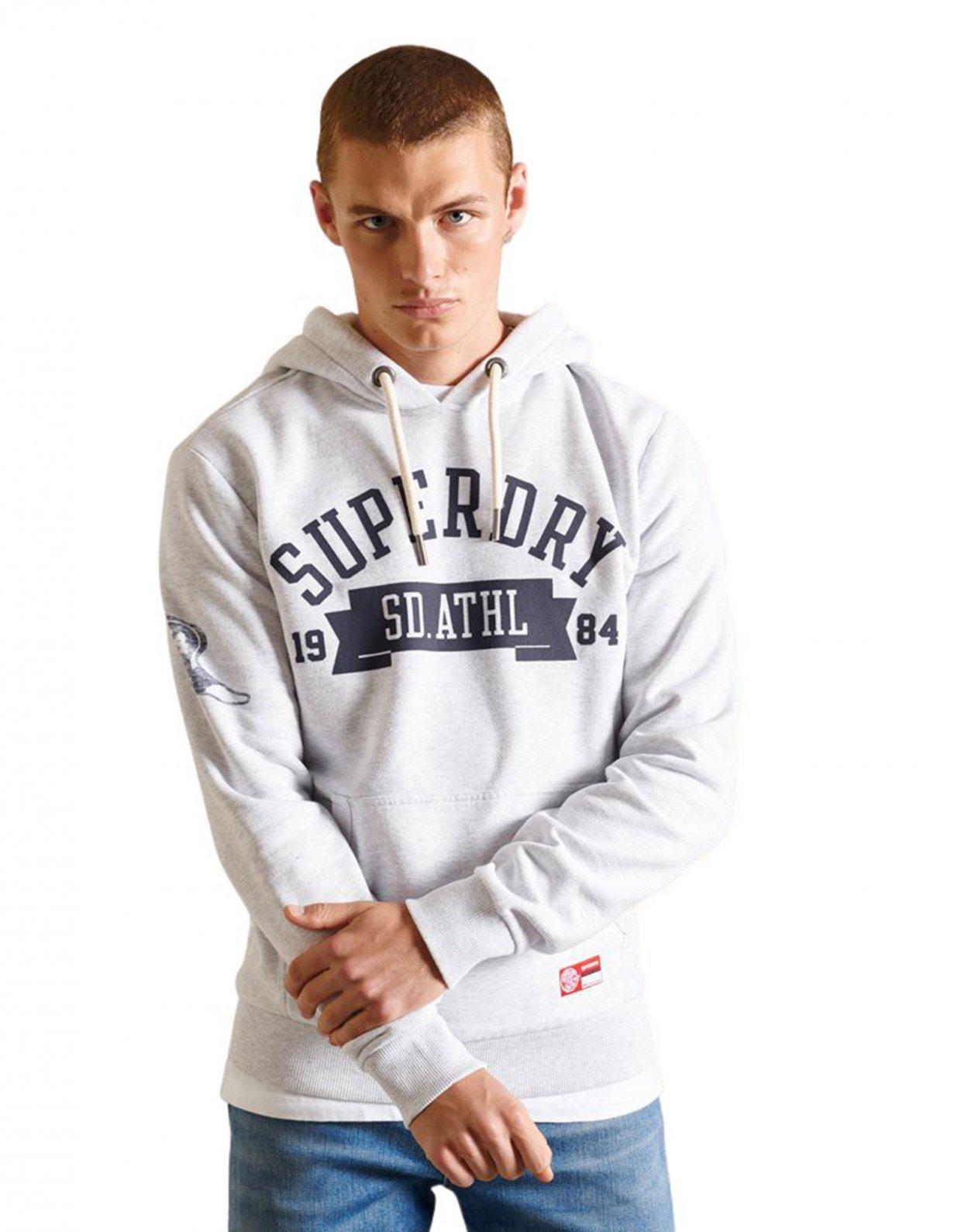 Superdry Track & field hoodie glacier grey marl