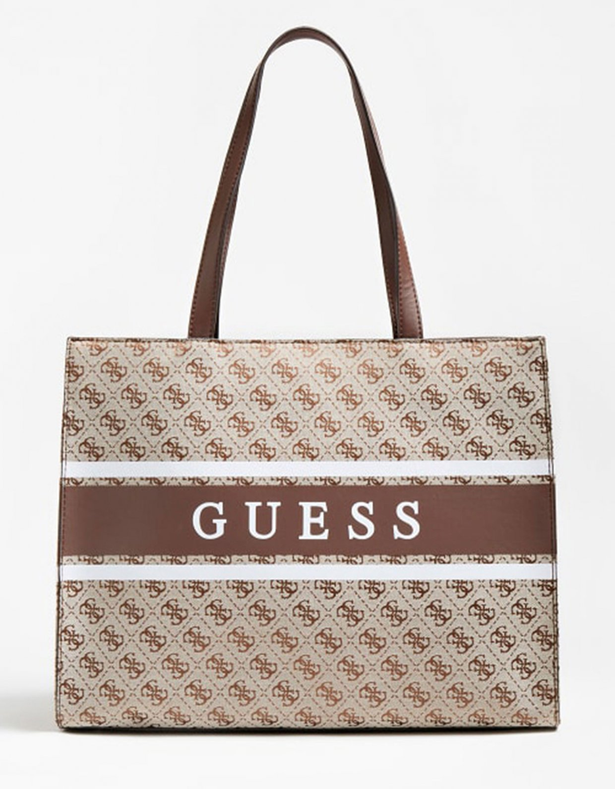 Guess Monique shopper bag brown