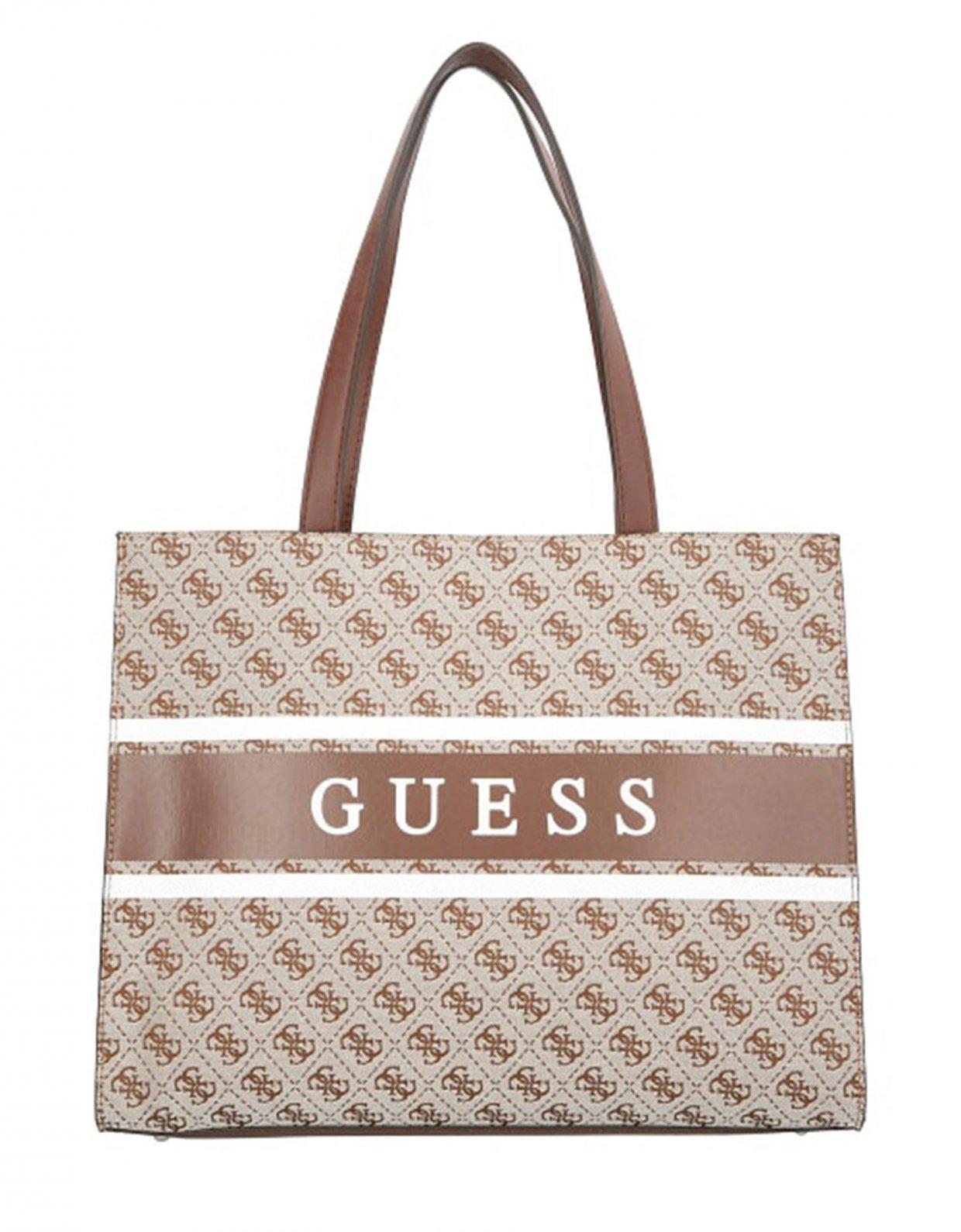 Guess Monique shopper bag brown