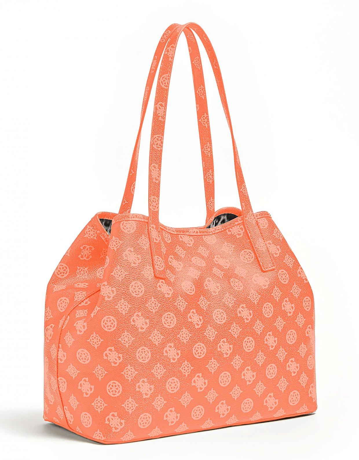 GUESS Vikky large tote bag coral