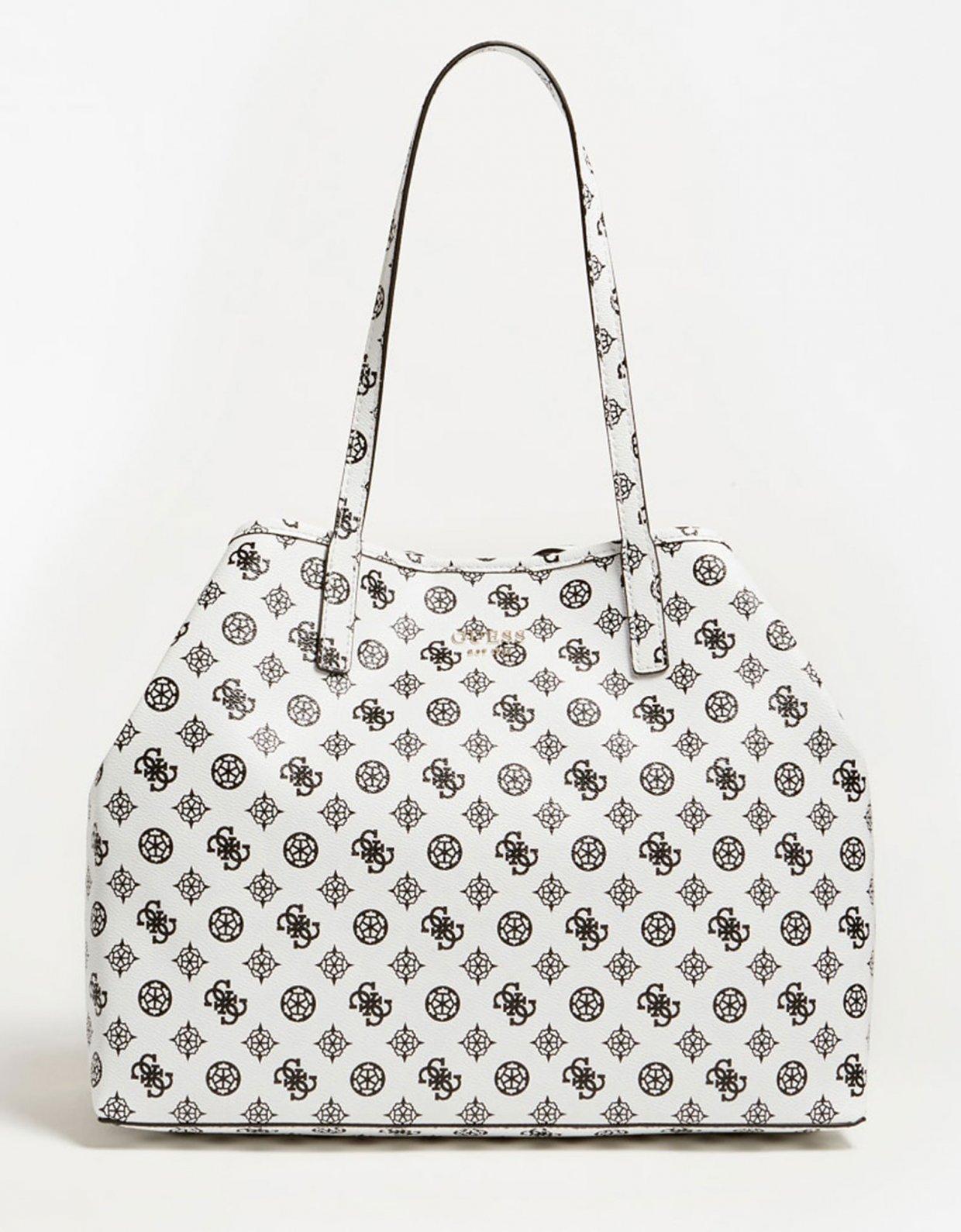 Guess Vikky large tote bag white