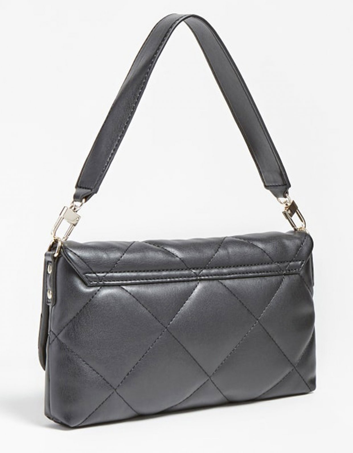 Guess Brightside quilted shoulder bag black