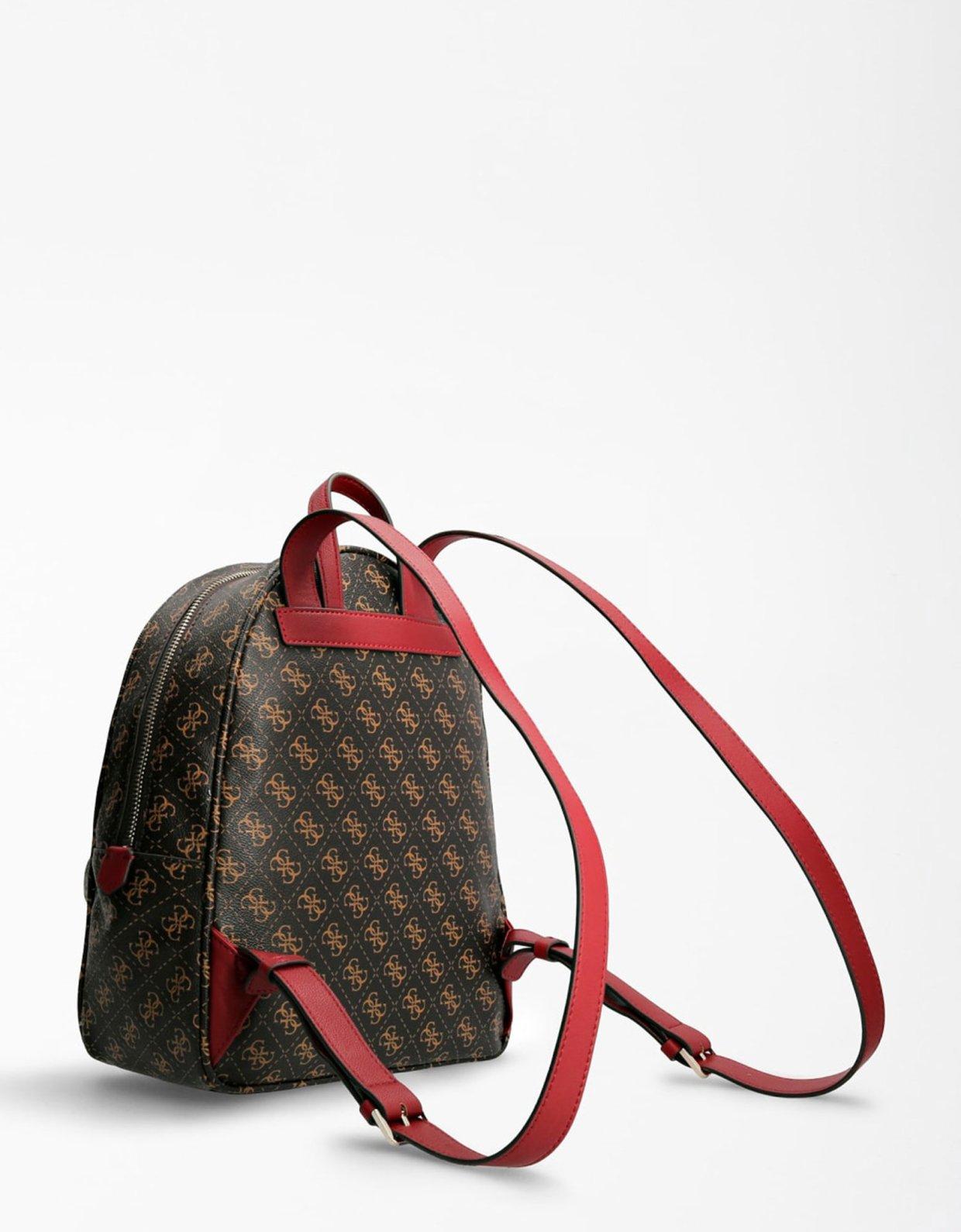 Guess Vikky 4G logo backpack brown/merlot