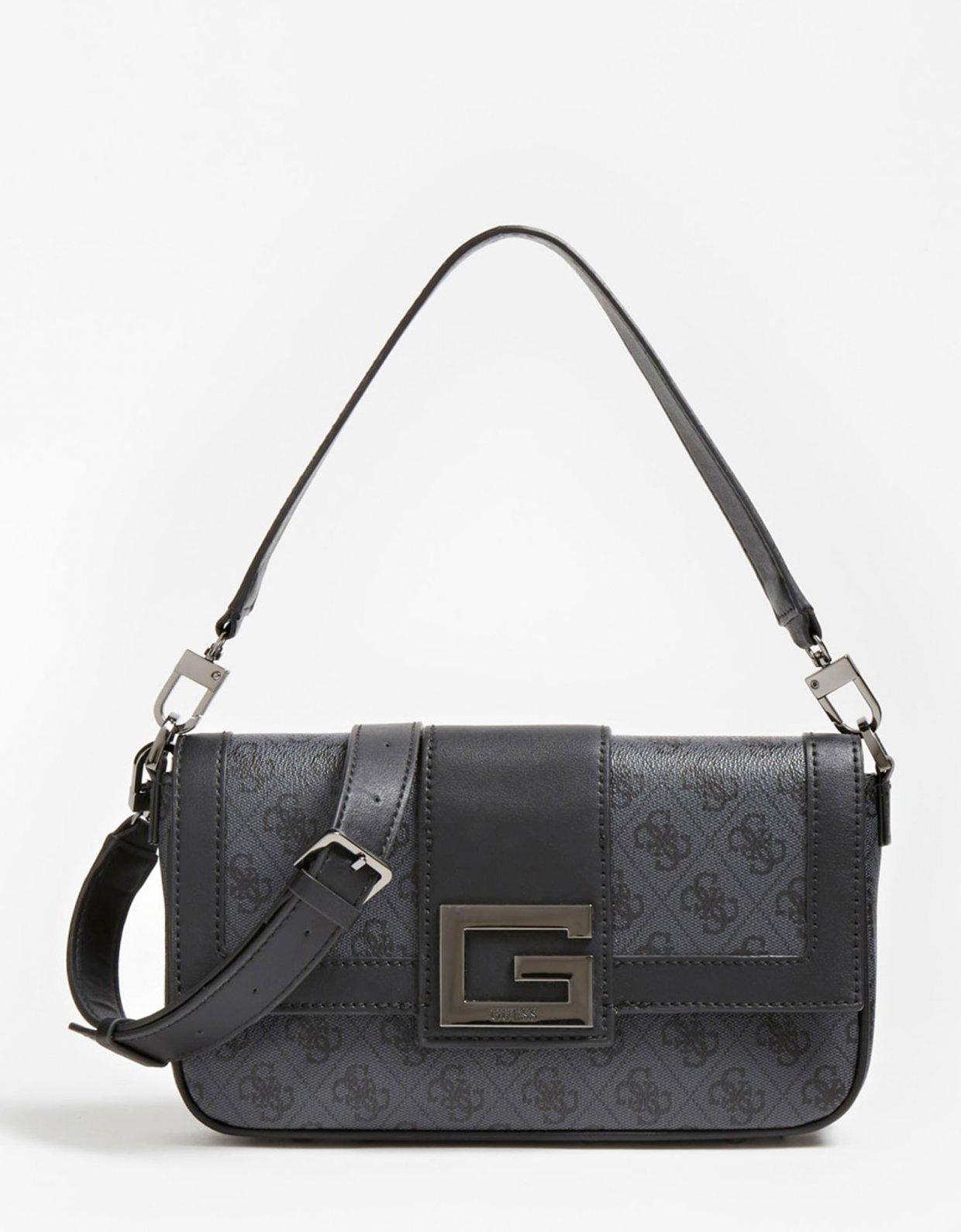 Guess Brightside shoulder bag dark grey