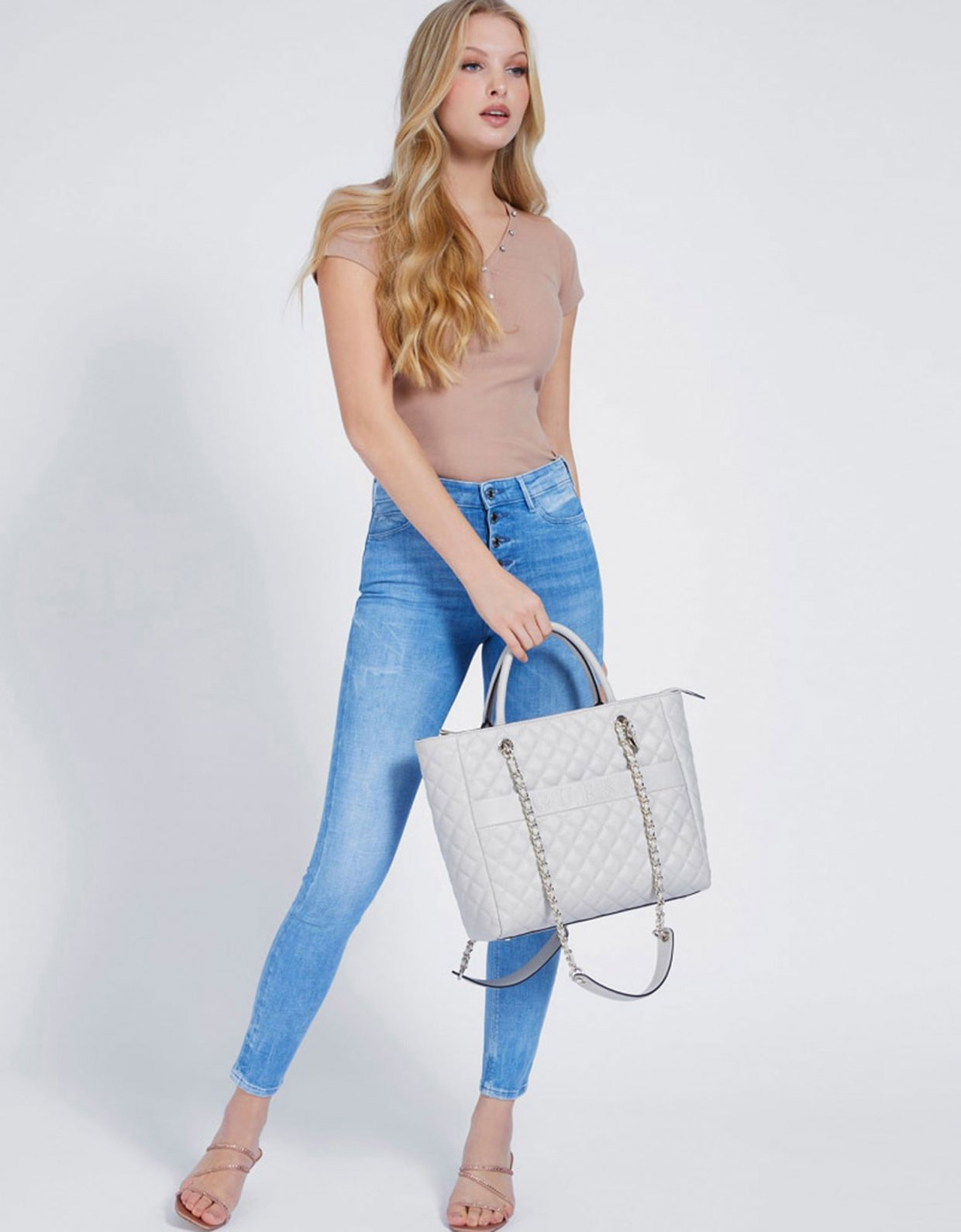 Guess Illy elite tote bag grey