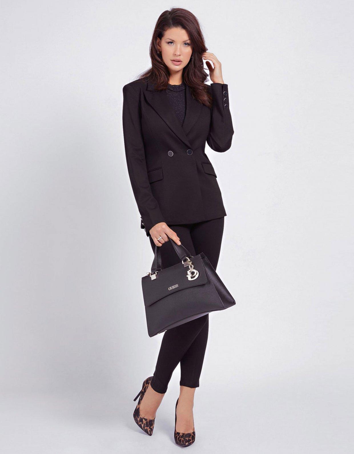 Guess Dalma girlfriend satchel handbag black