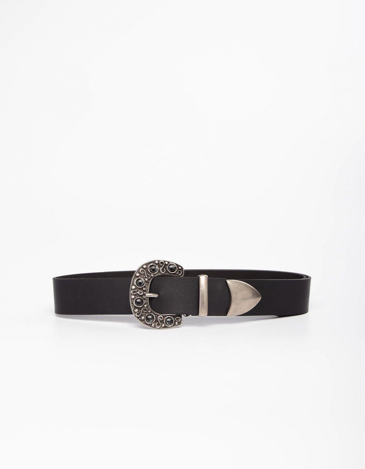 Individual Art Leather Ocean soul black belt