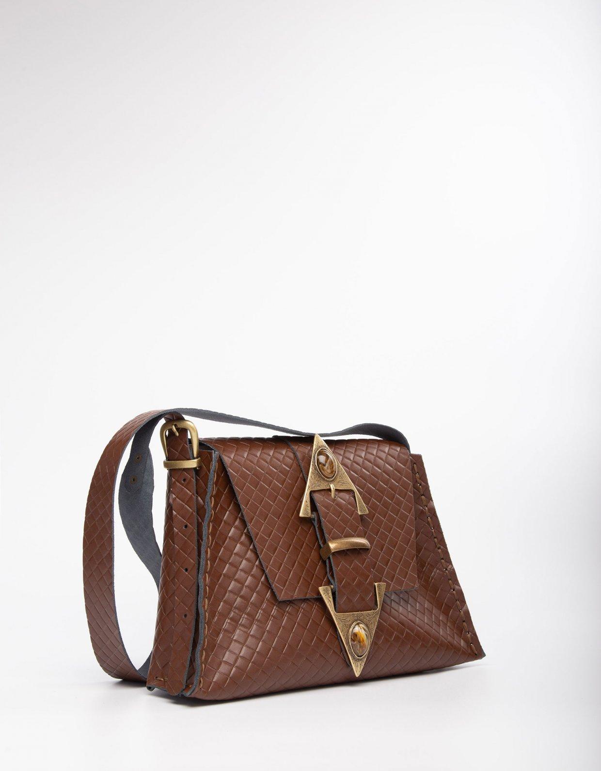 Individual Art Leather Dance monkey brown/bronze bag