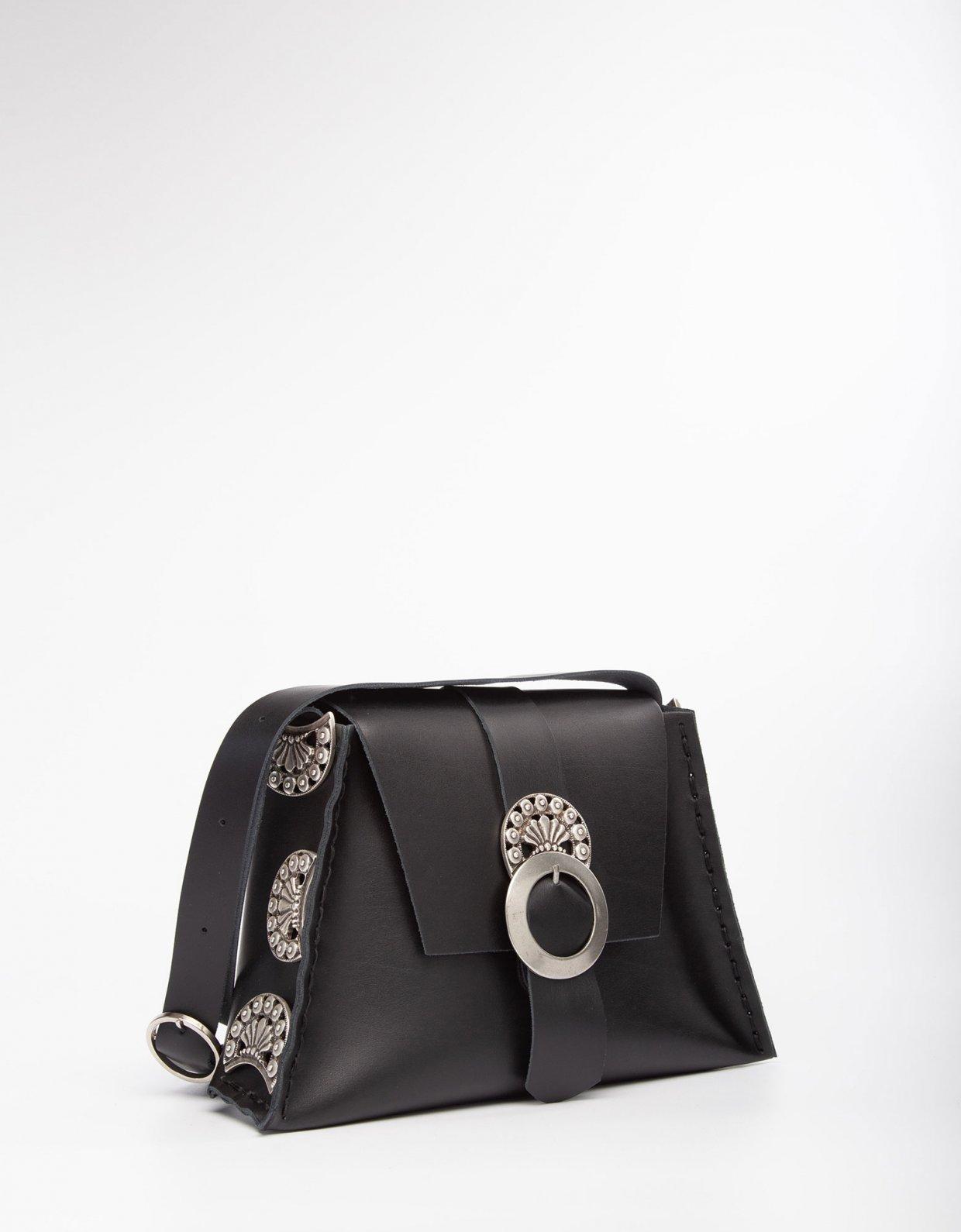 Individual Art Leather Modern love black bag