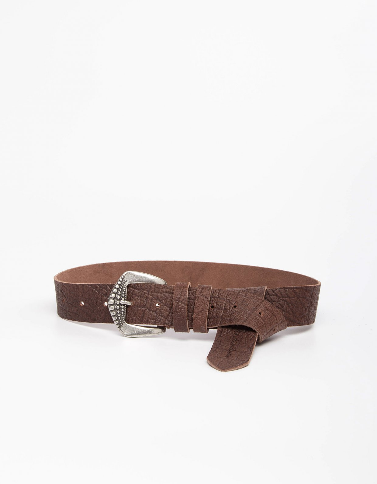 Individual Art Leather Physical brown/nickel belt