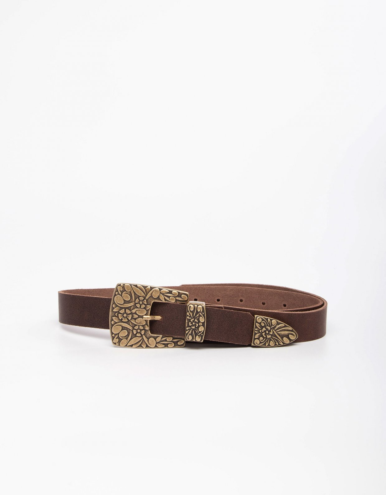 Individual Art Leather Cyclamen  brown belt