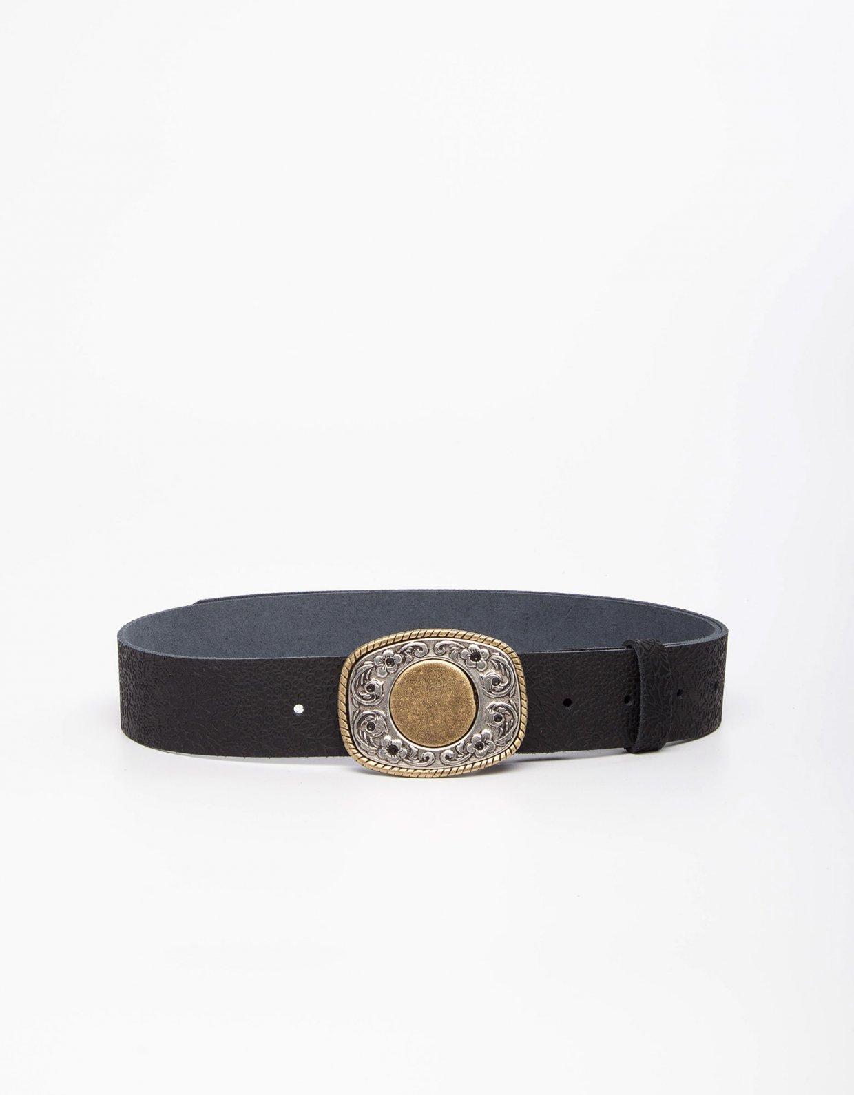 Individual Art Leather Fresh black belt