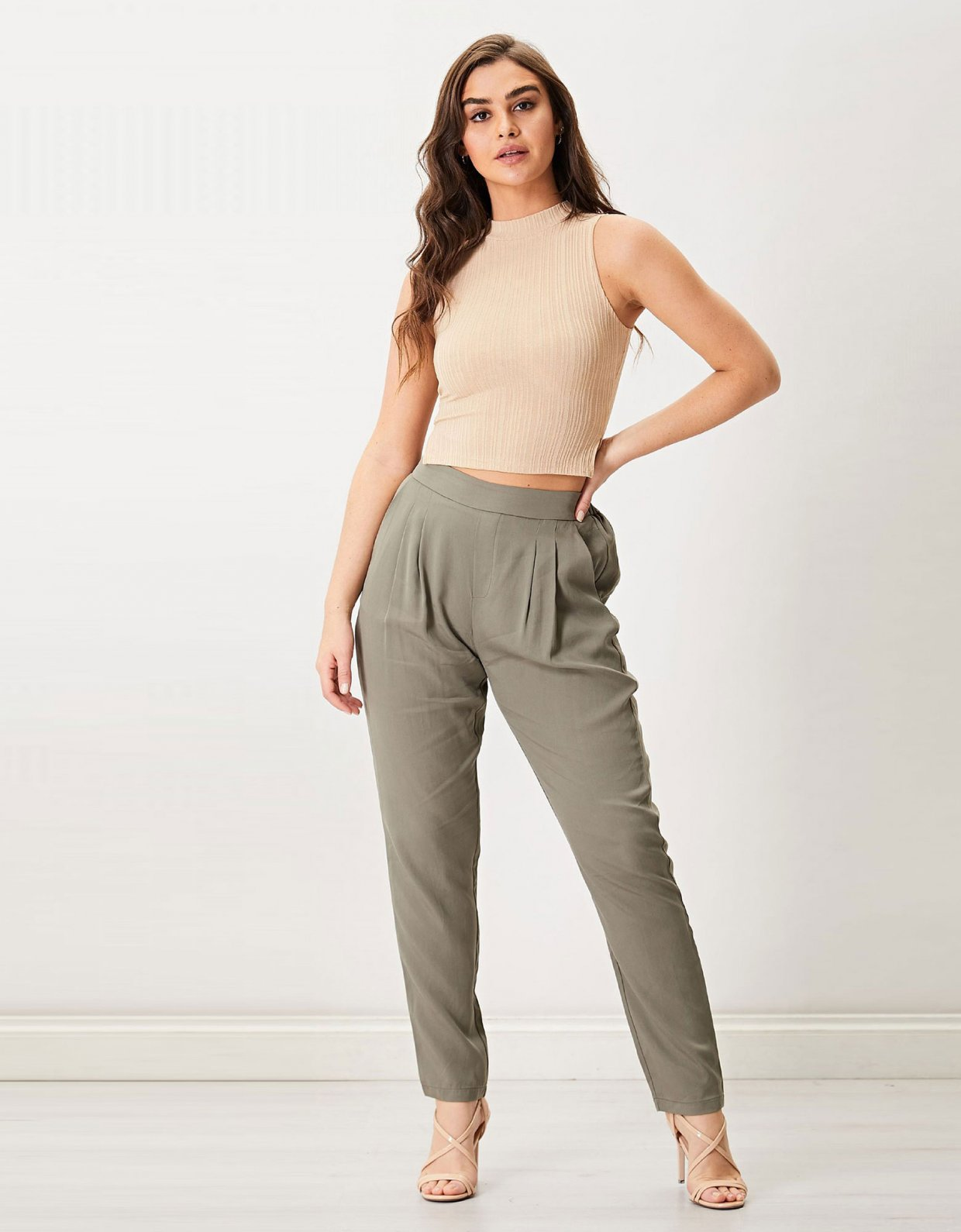 ANGELEYE Julia khaki pants
