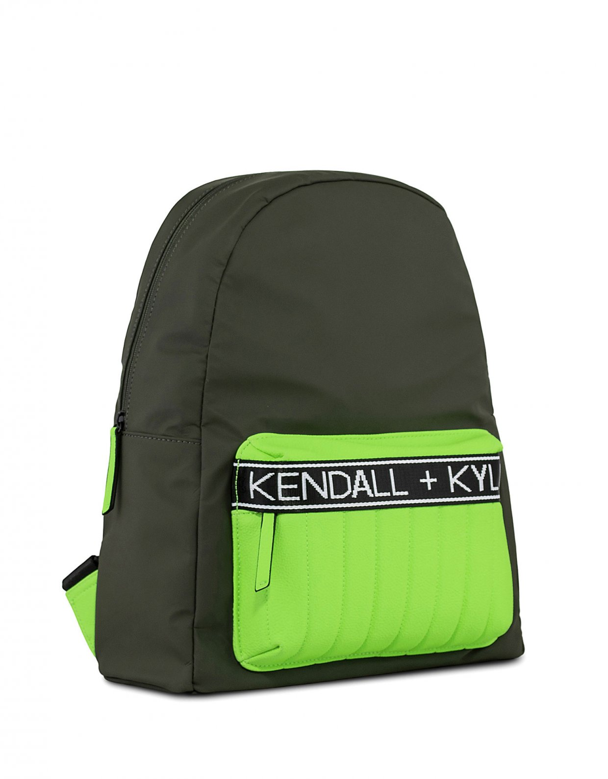 Kendall + Kylie Linz backpack khaki/neon green