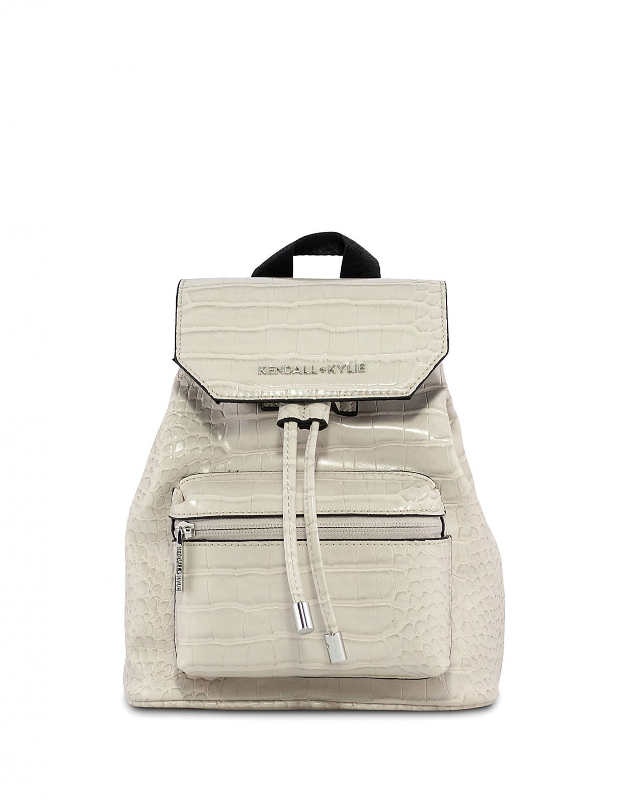 Kendall + Kylie Serena small backpack beige croco