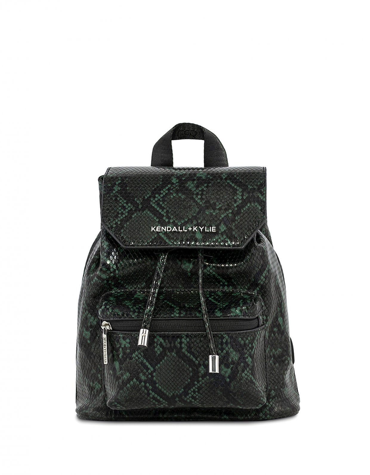 Kendall + Kylie Serena small backpack green snake