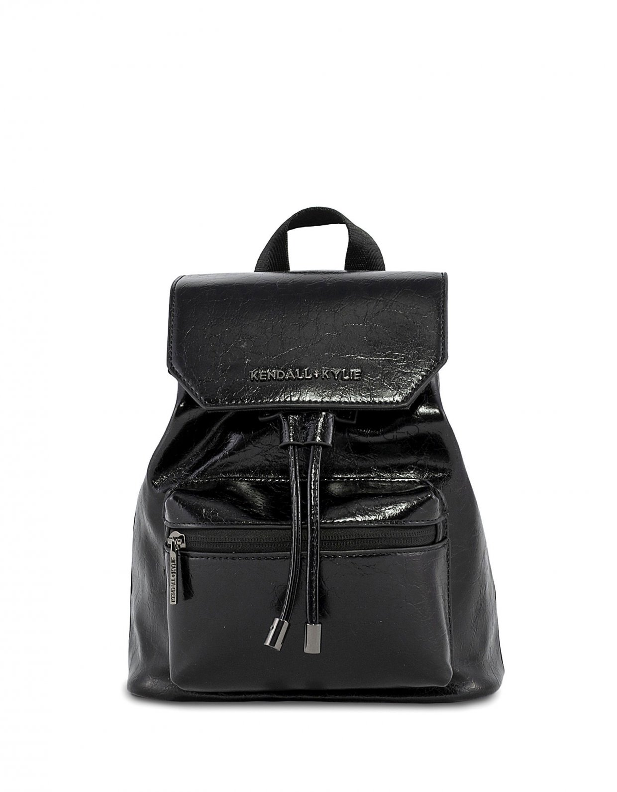 Kendall + Kylie Serena small backpack crinkled black