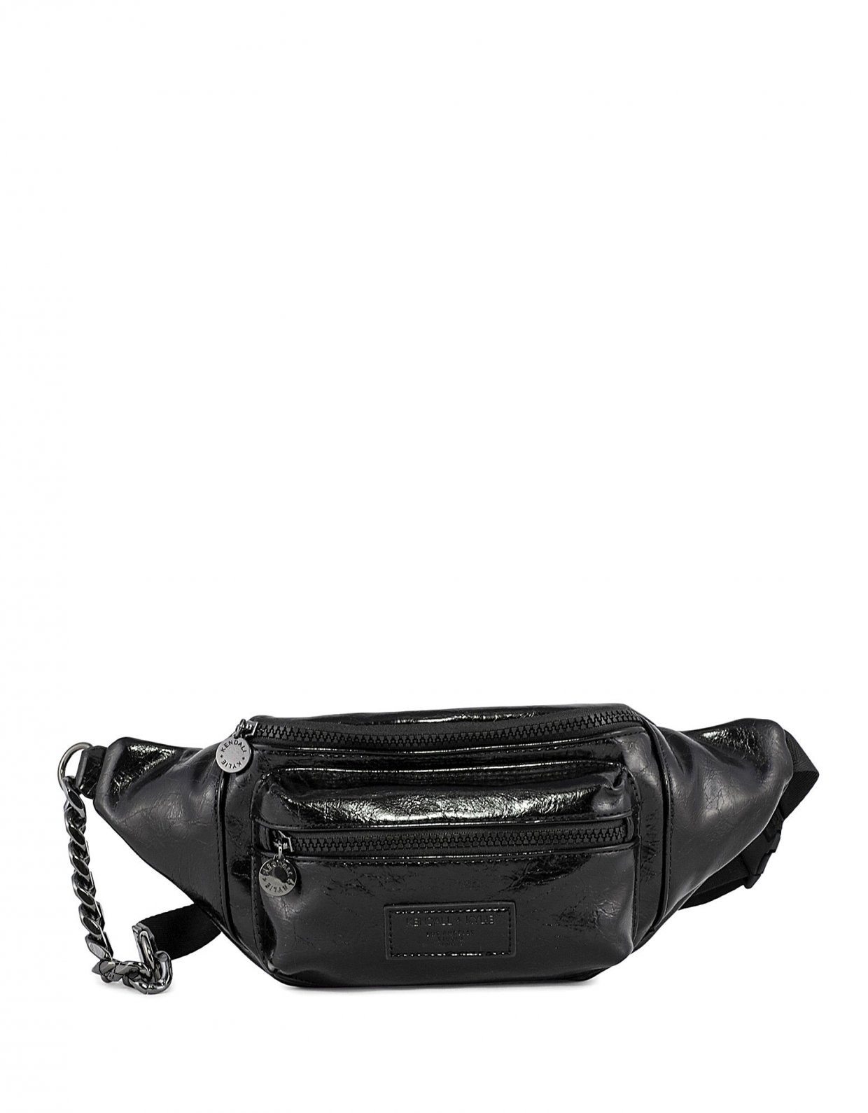 Kendall + Kylie Michelle fanny pack crinkled black