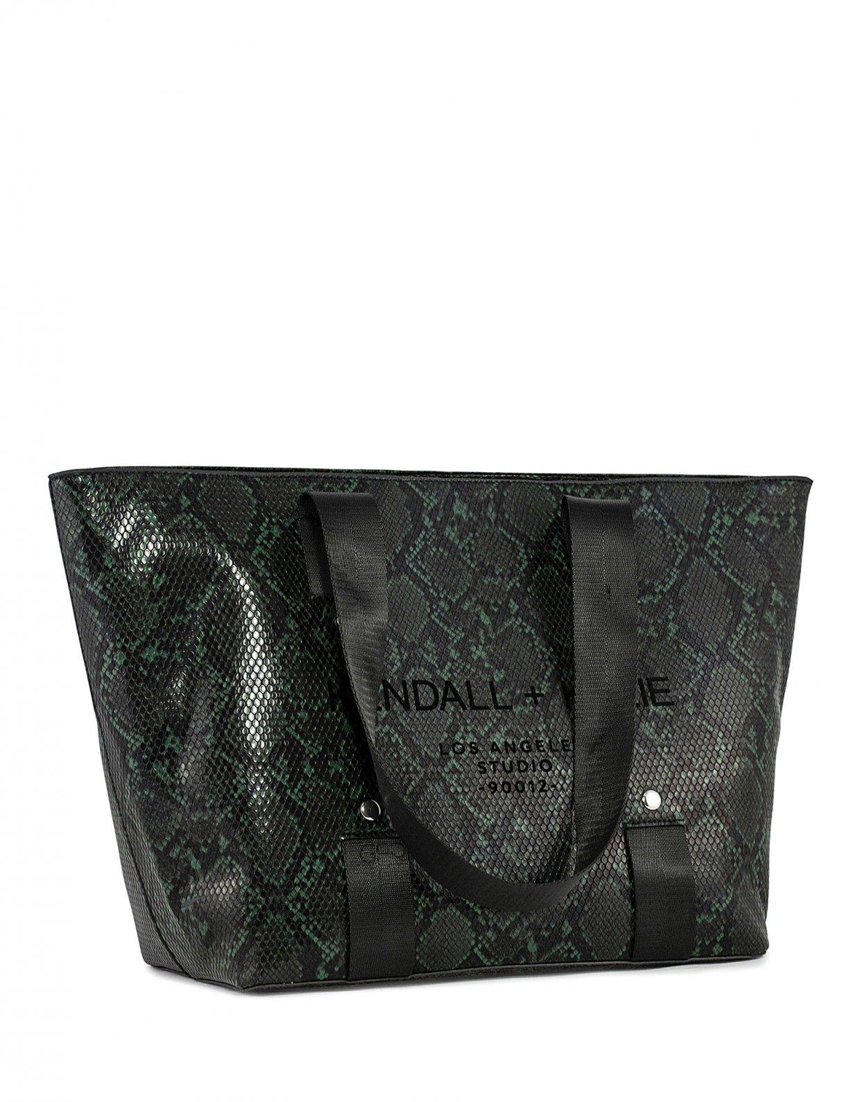 Kendall + Kylie Valerie tote bag green snake