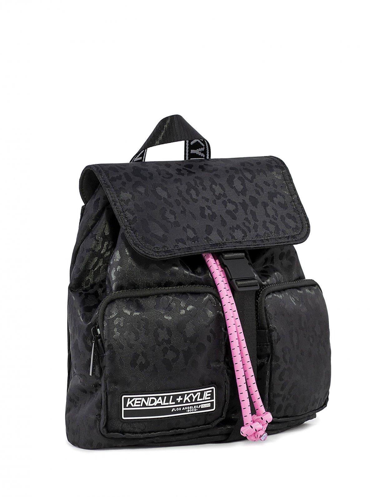 Kendall + Kylie Jesse medium backpack black cheetah