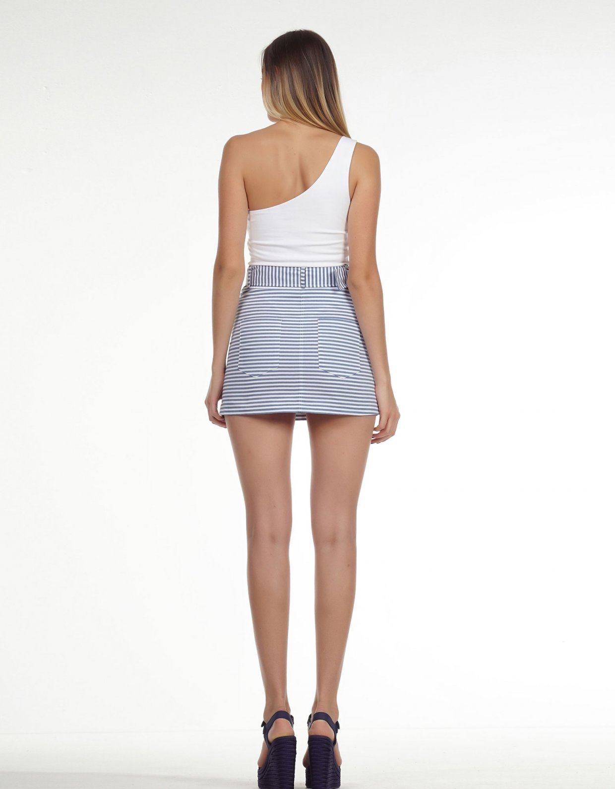 Kendall + Kylie One shoulder body white