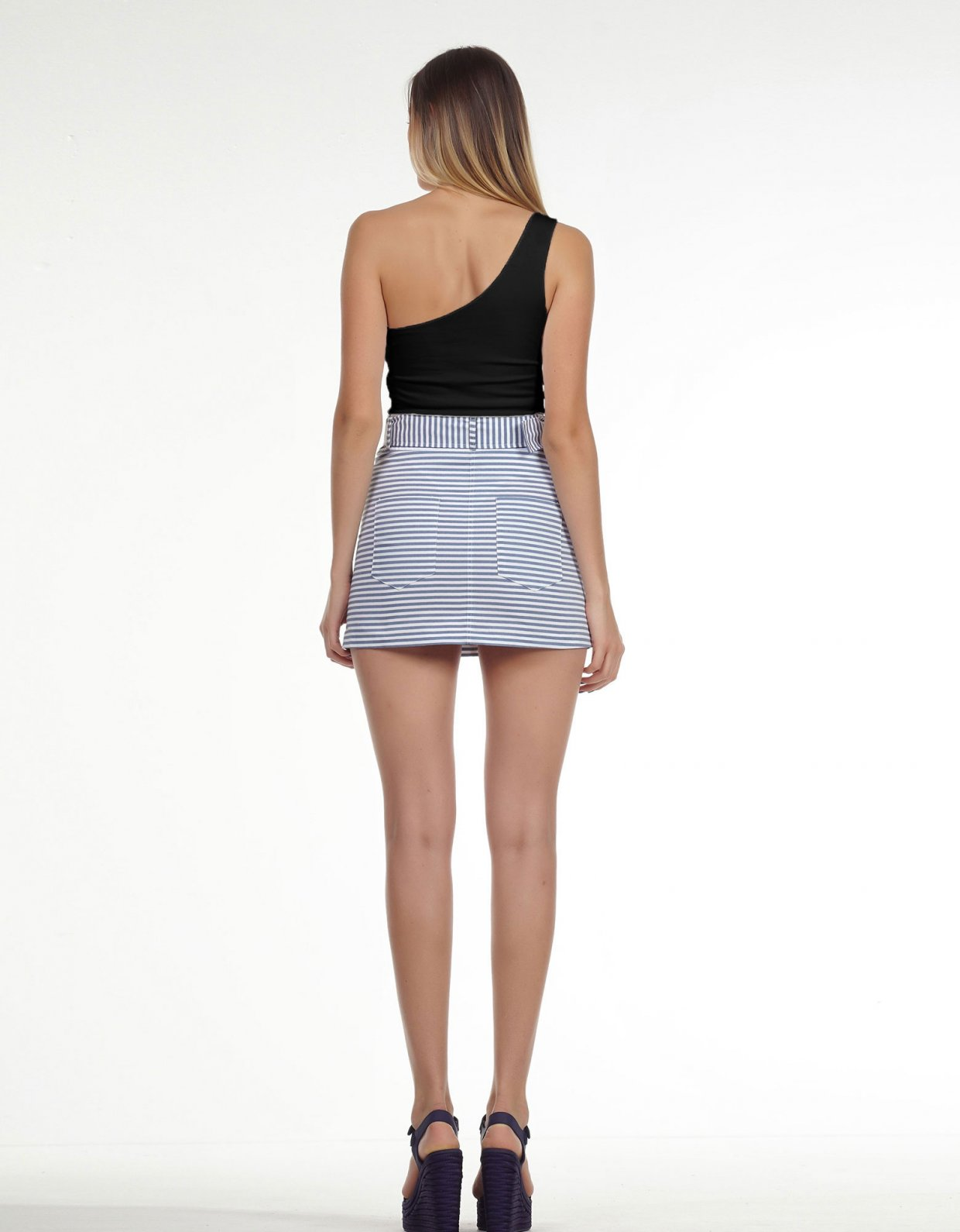 Kendall + Kylie One shoulder body black