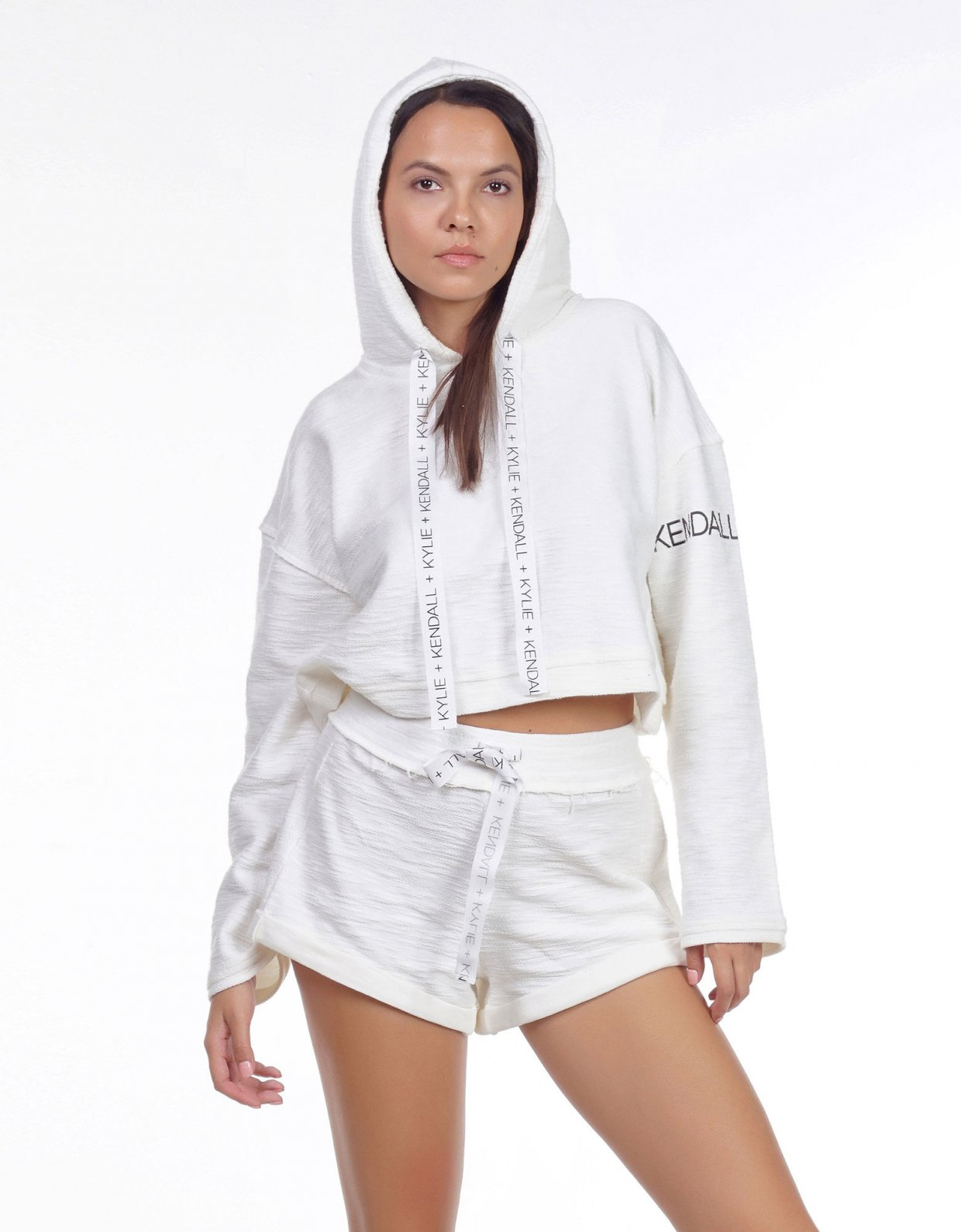 Kendall + Kylie Active hoody inside out sweater