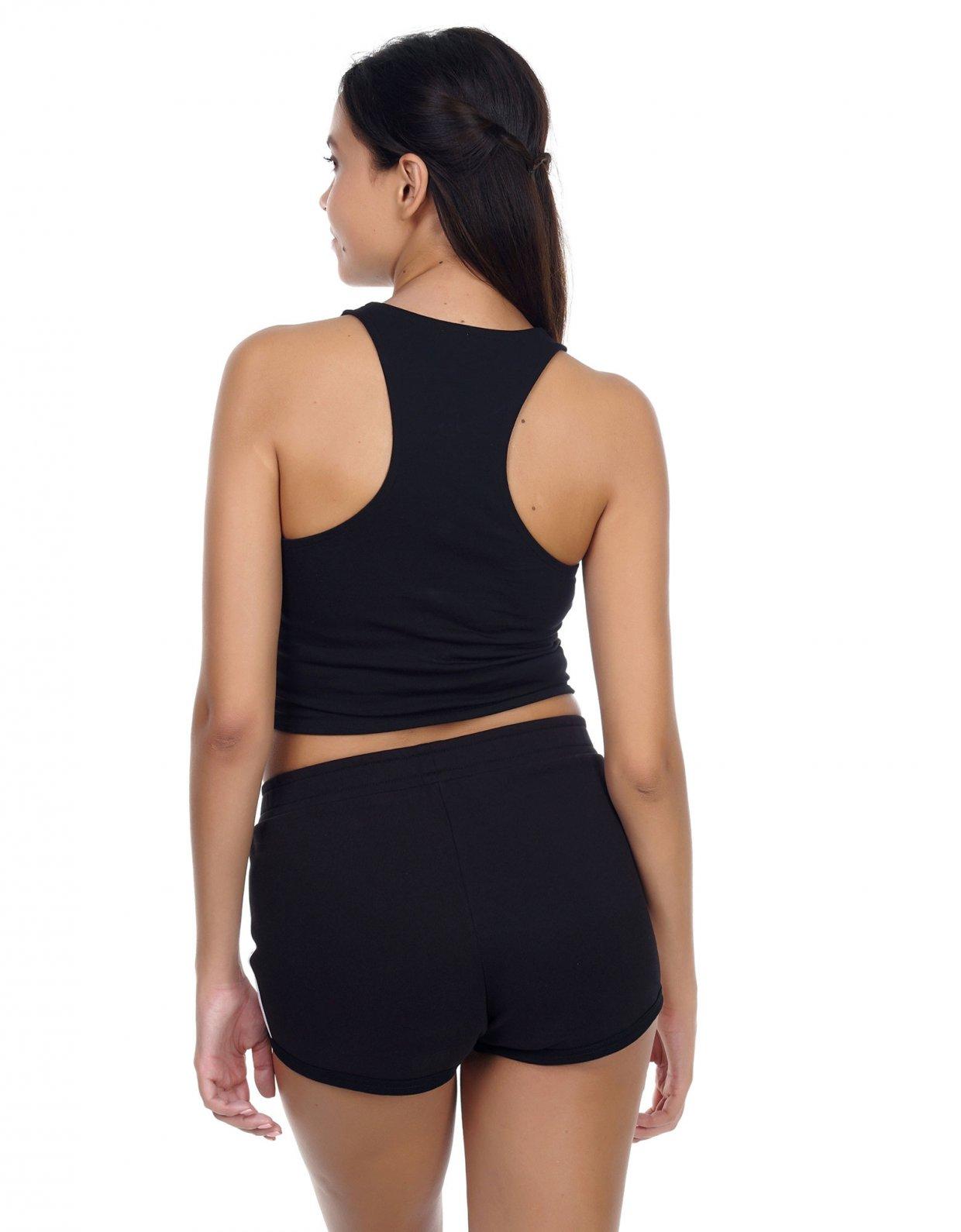 Kendall + Kylie Logo stripe shorts