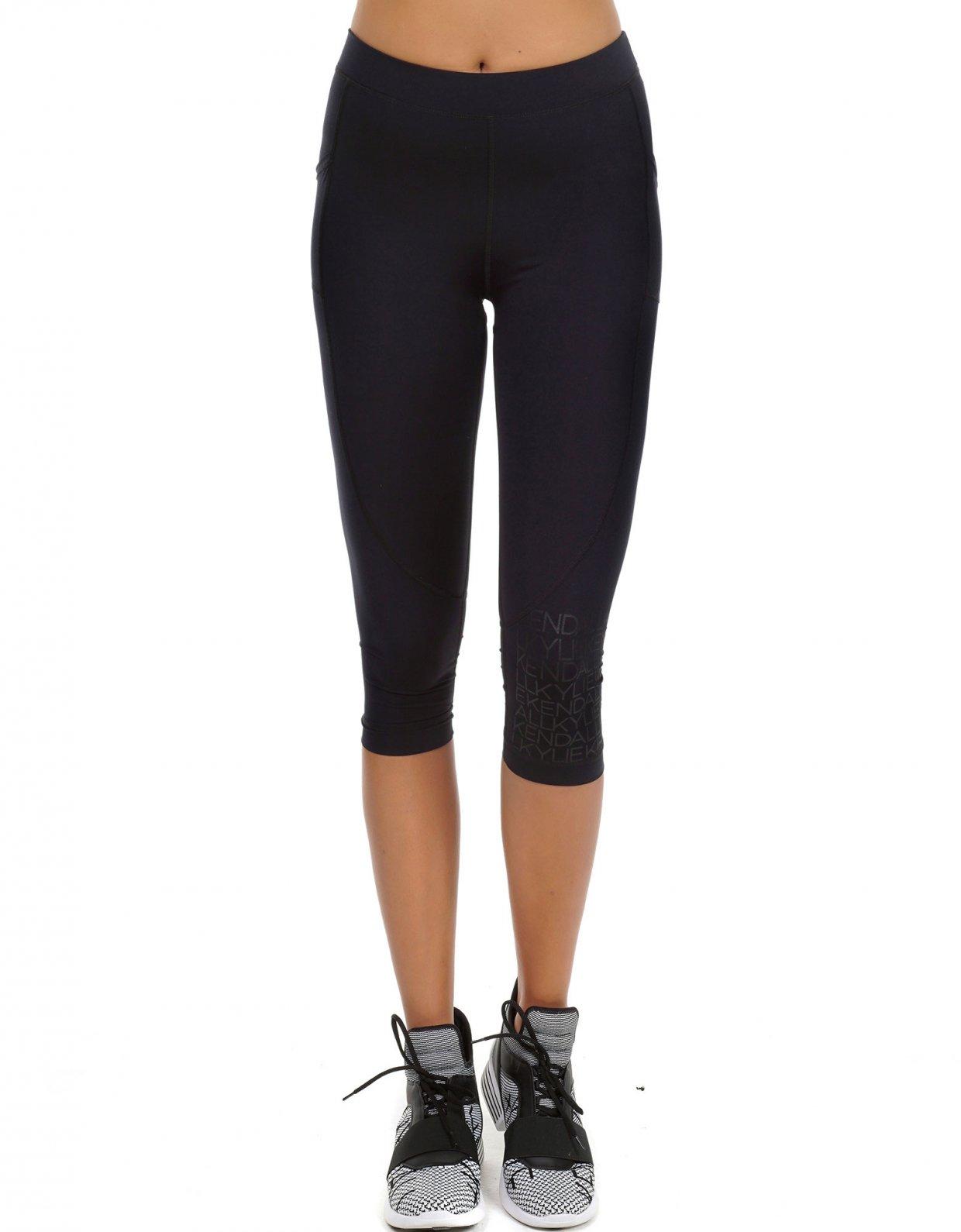 Kendall + Kylie Biker midi logo leggings