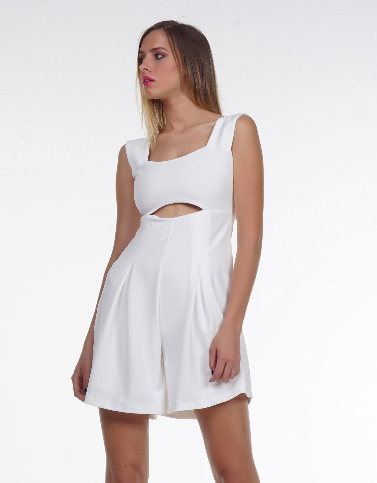 Kendall + Kylie Crepe short jumpsuit