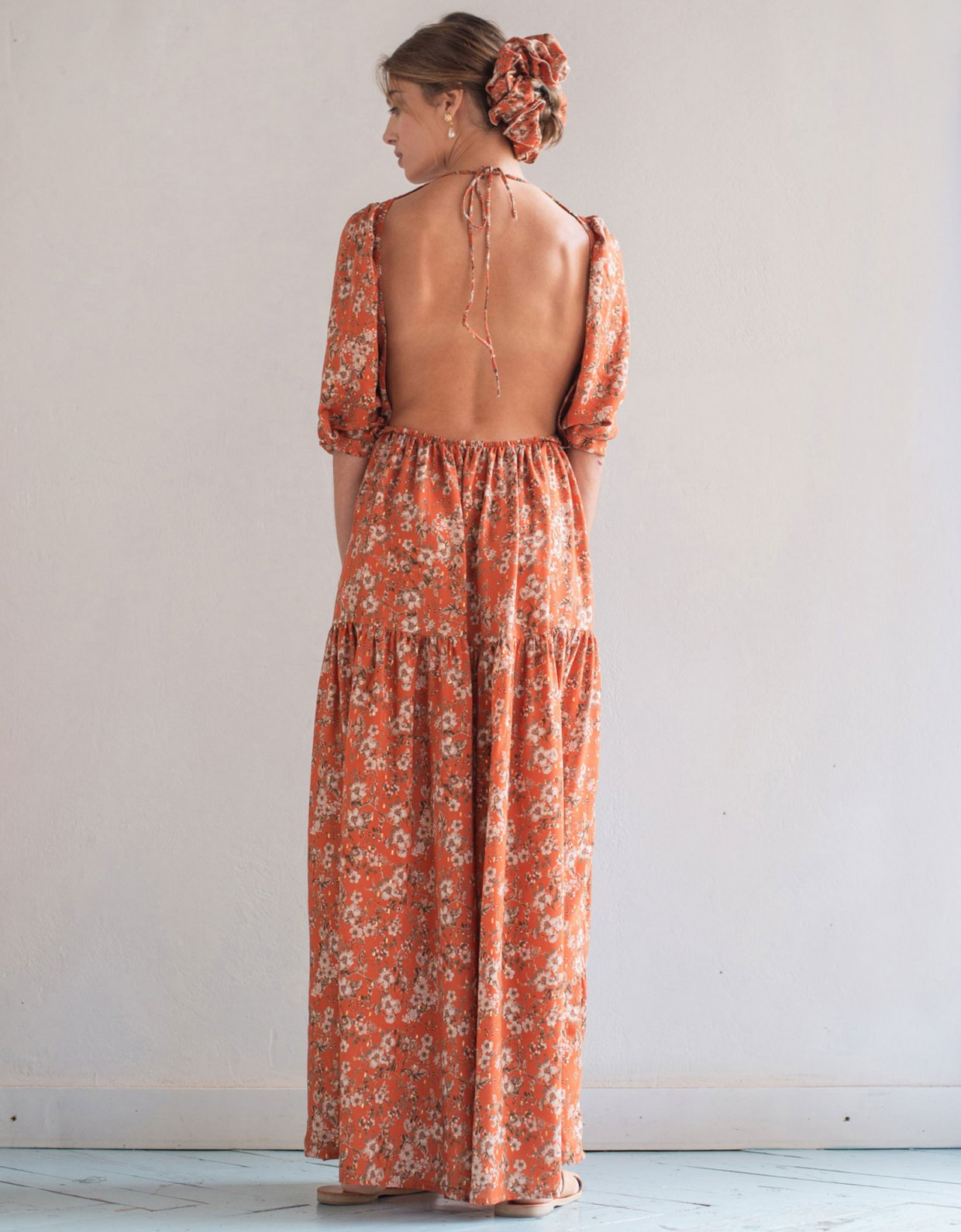 Madame Shoushou Lauter orange dress