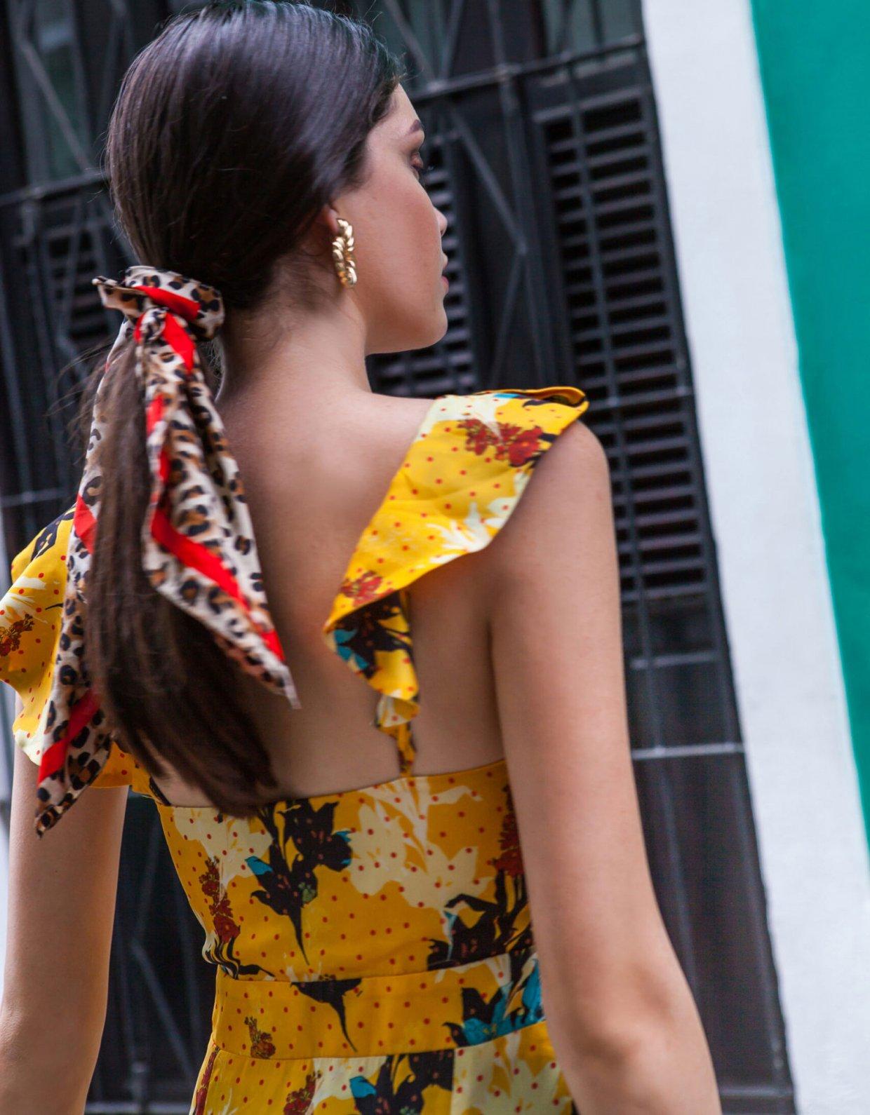 Mallory the label Manguita yellow dress