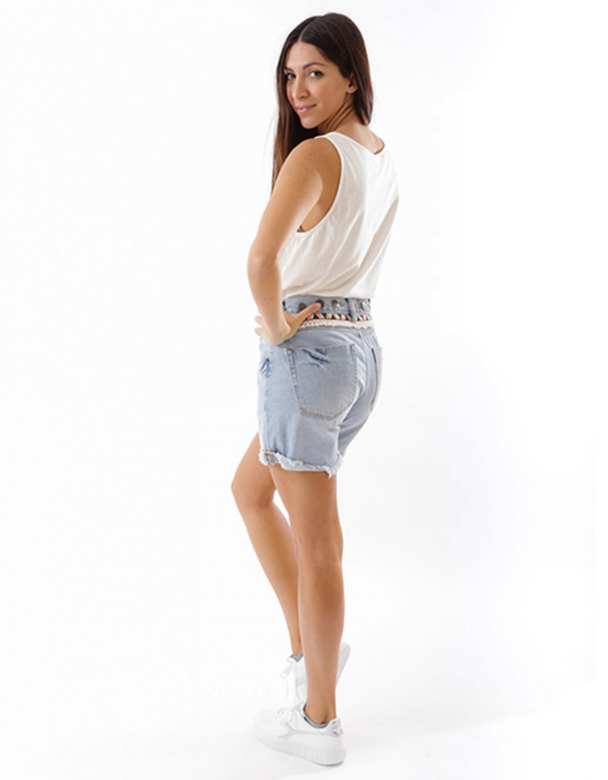 Salt & Pepper Marilena Aztec shorts