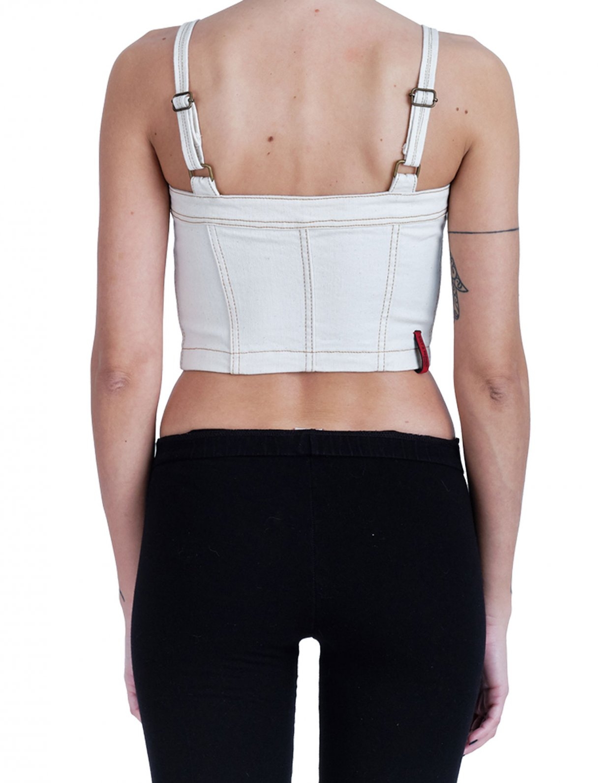Salt & Pepper Matina cream bustier