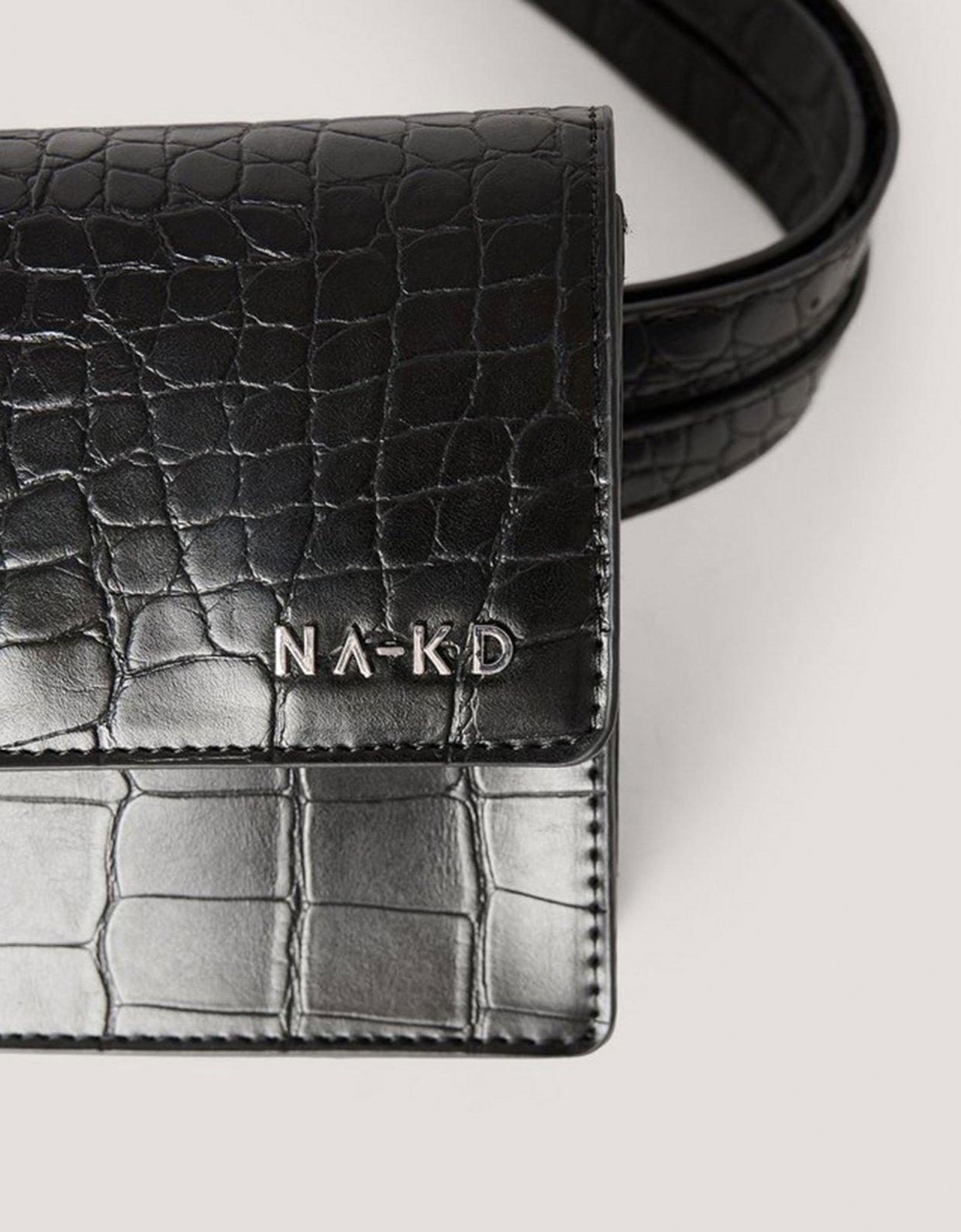 NA-KD Mini fanny pack black