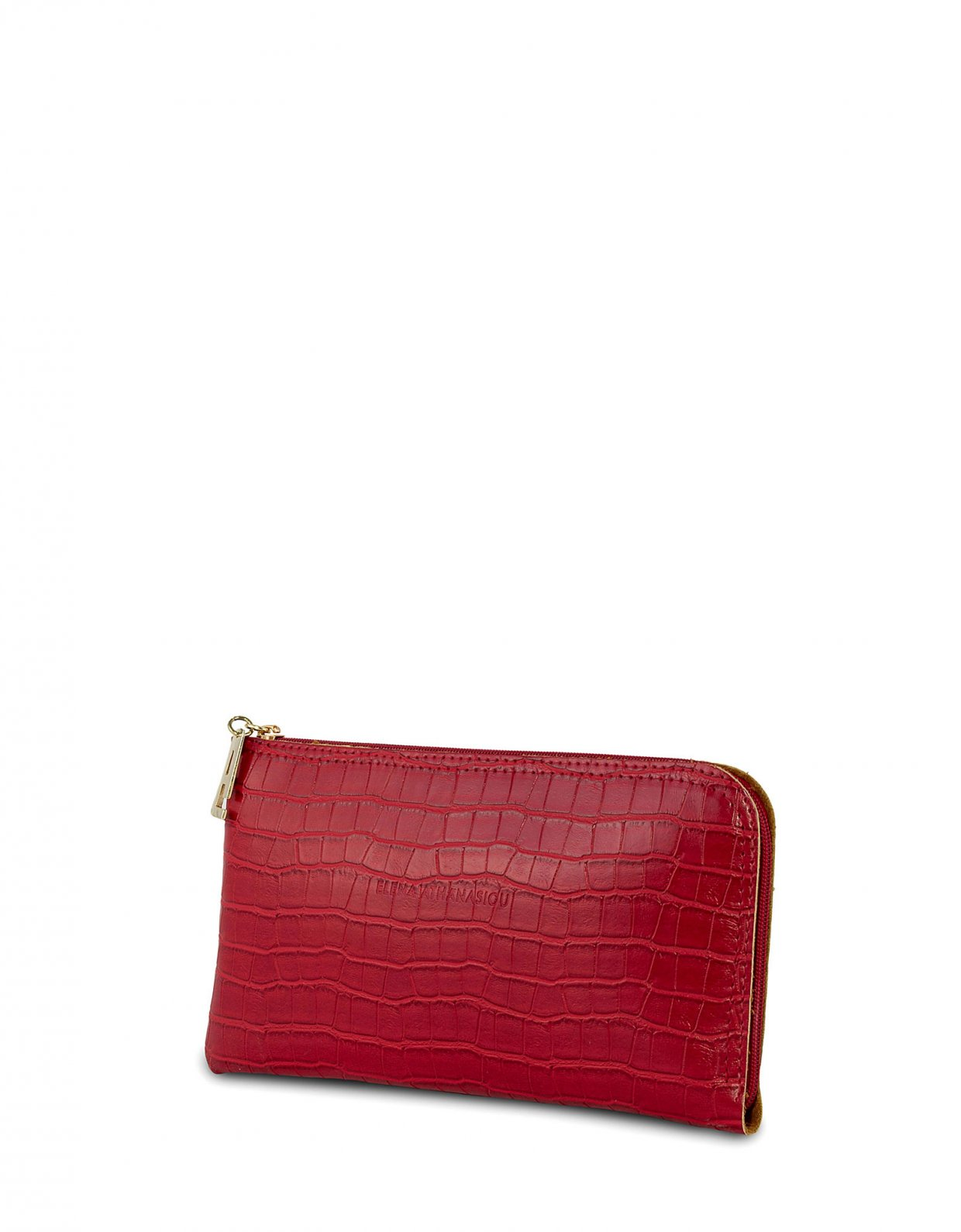 Elena Athanasiou Mini clutch bag red croco