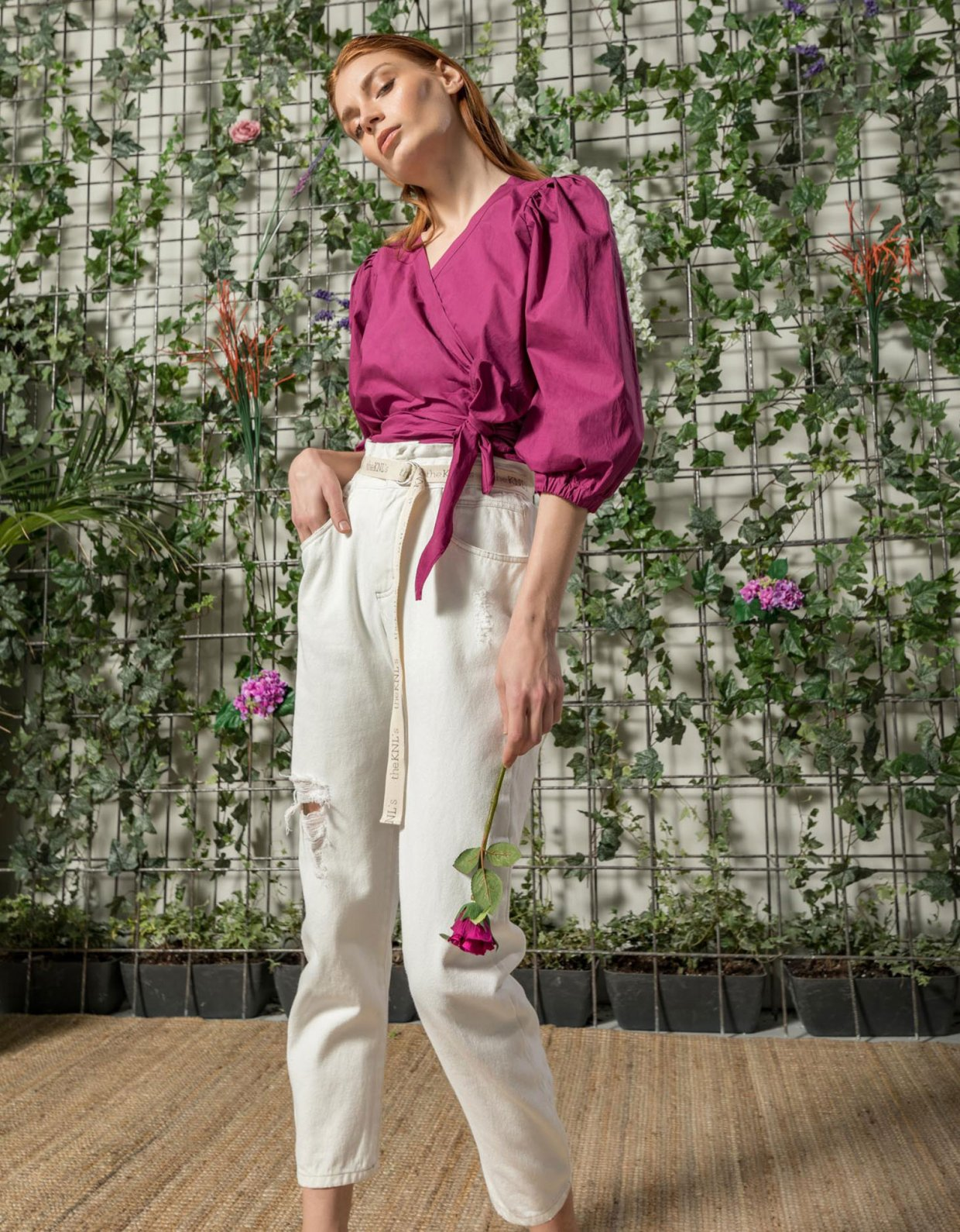 The Knl's Blouch off white jeans