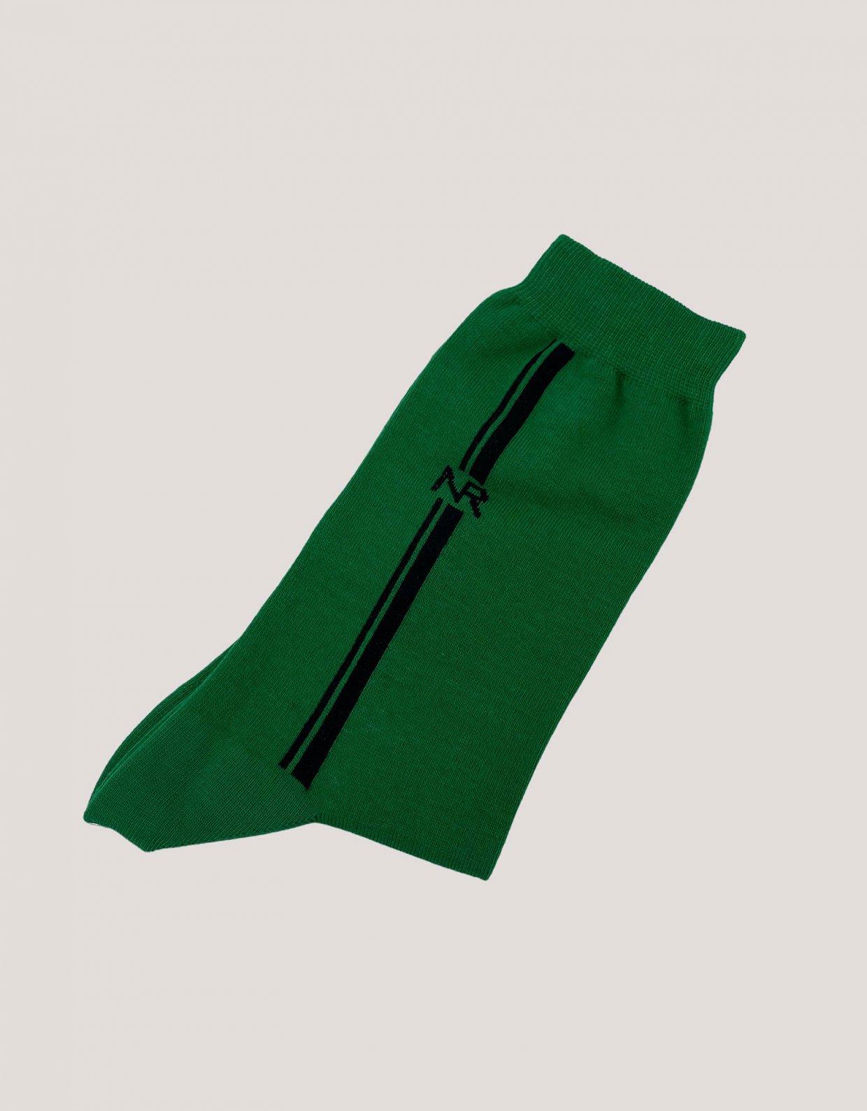 Nadia Rapti Lines n logo socks green