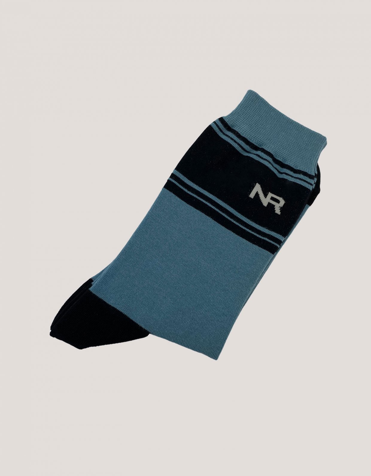 Nadia Rapti Stripes n logo socks blue