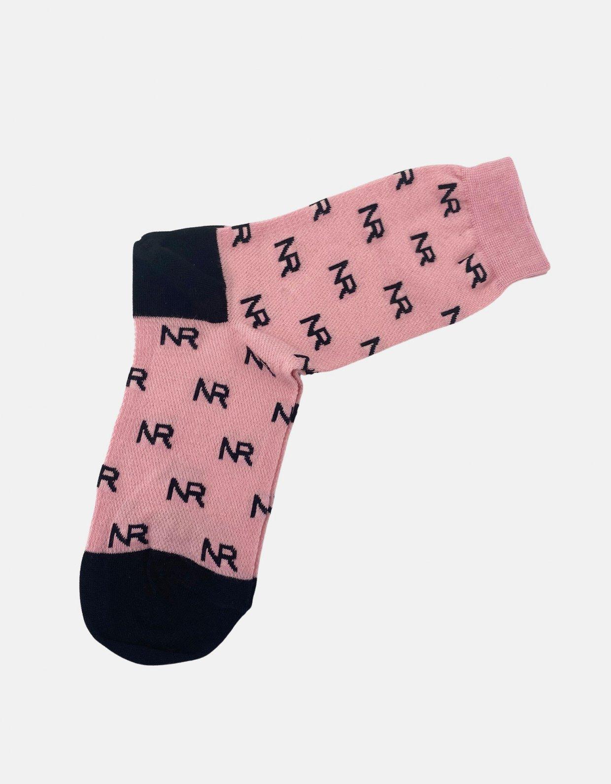 Nadia Rapti Full in logo socks pink