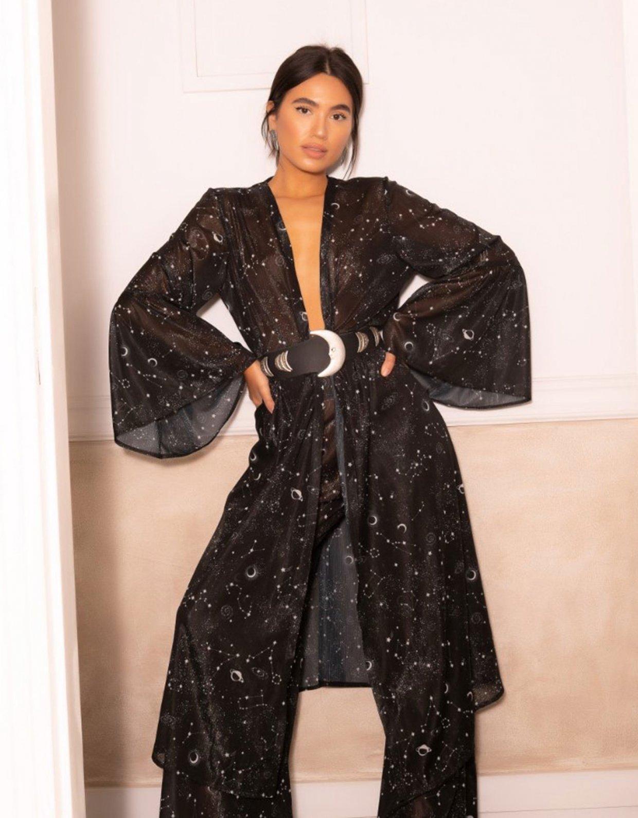 Abstracto Galaxy kimono