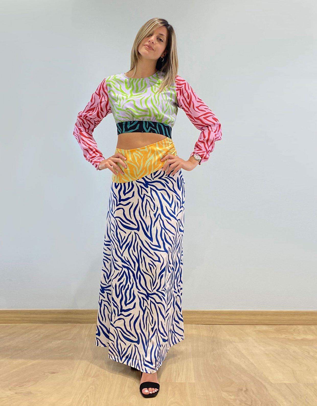 Kendall + Kylie Funky zebra dress