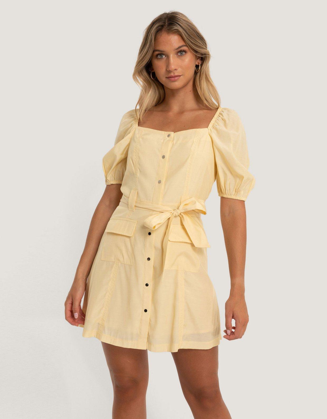 NA-KD Puff sleeve tailored dress