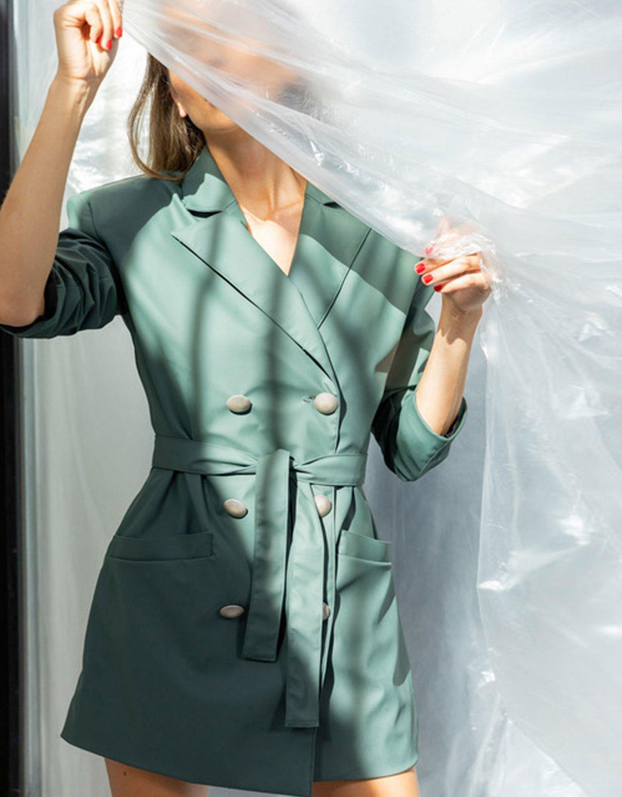 The Knl's Reassemble mat petrol blazer dress