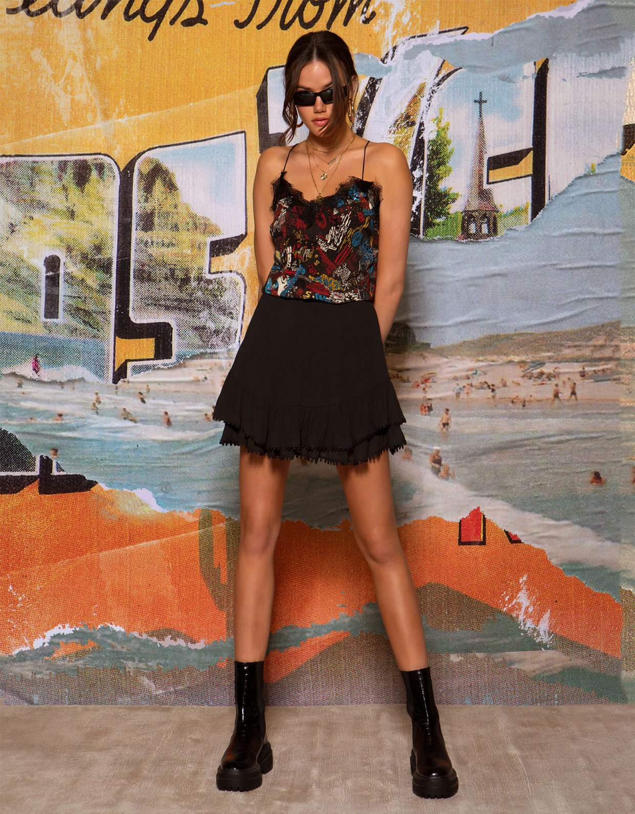 Peace & Chaos Mambo skirt