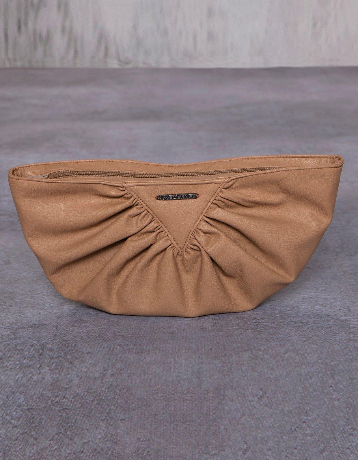 Peace & Chaos Bae eco leather clutch bag beige