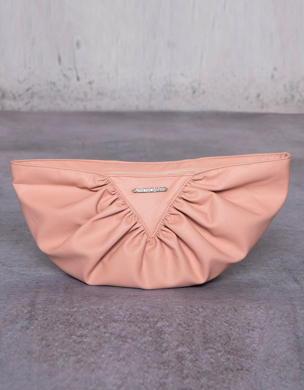 Peace & Chaos Bae eco leather clutch bag dusty pink