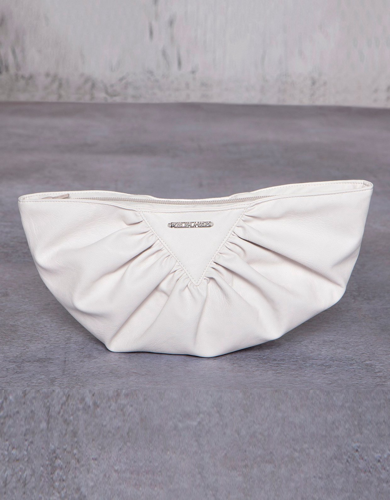 Peace & Chaos Bae eco leather clutch bag off white