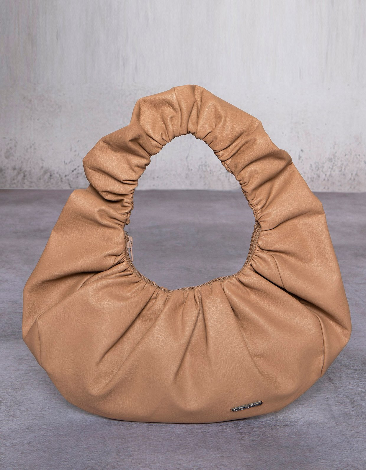 Peace & Chaos Eco leather croissant bag beige