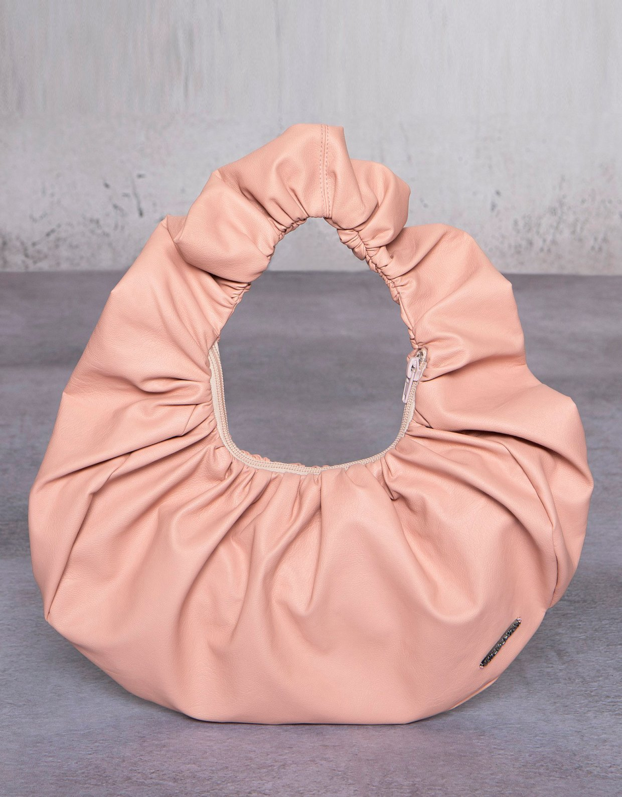 Peace & Chaos Eco leather croissant bag dusty pink